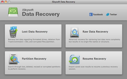 iSkysoft Data Recovery for Mac is a safe, fast and cose-effective Mac data recovery application that helps you recover lost files in a few clicks.