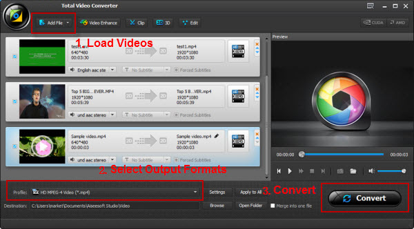 Aiseesoft 4K Video Converter-Convert 4K video to 1080p, 720p for your mobile devices. And convert 4K movies between popular video formats for your 4K TV.