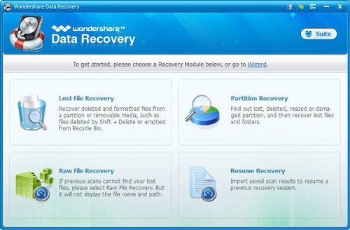 Safe, easy and fast! This is how Wondershare Data Recovery retrieves your lost videos, photos, music, documents, email and archive files from various disks.