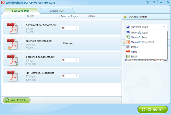 Wondershare PDF Converter Pro is a 7-in-1 PDF Converter is the best PDF converter software for users to convert PDF files to Office documents and many other popular formats.