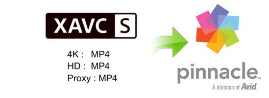 XAVC S to Pinnacle Studio