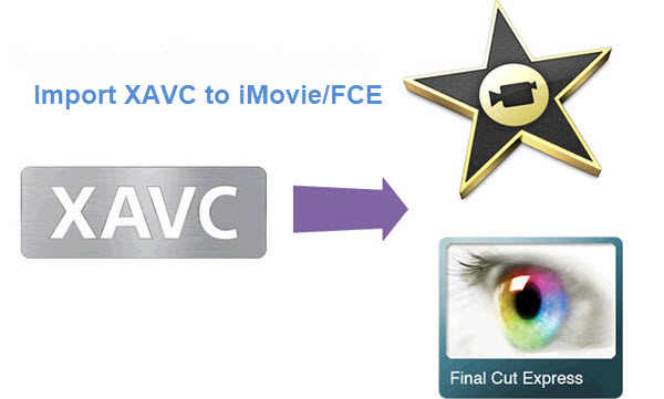 XAVC files to imovie/fce