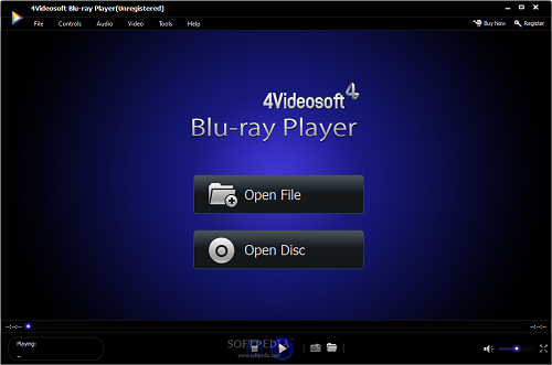 4Videosoft Blu-ray Player can freely play Blu-ray movies and any media file like MP4/AVI/WMV/MTS/MKV/MXF, etc. on PC.