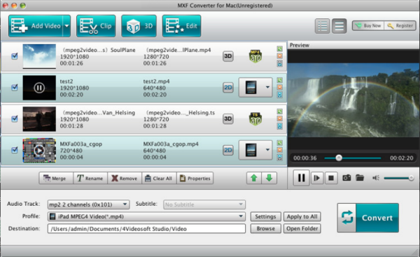 4Videosoft MXF Converter (for Windows or Mac)