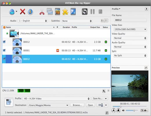 AVCWare Blu-ray Converter for Mac
