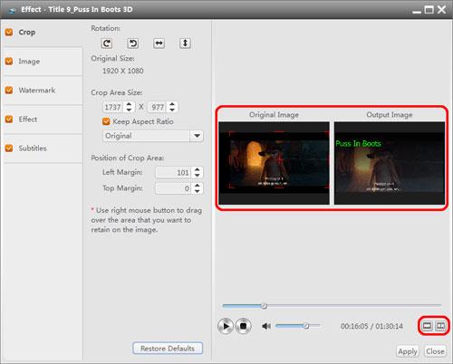 Edit the Blu-ray Videos on Windows 10