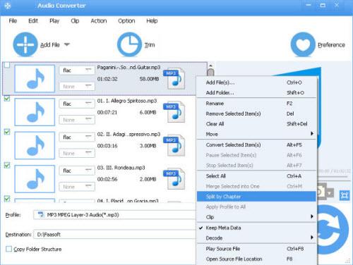 Split FLAC CUE files