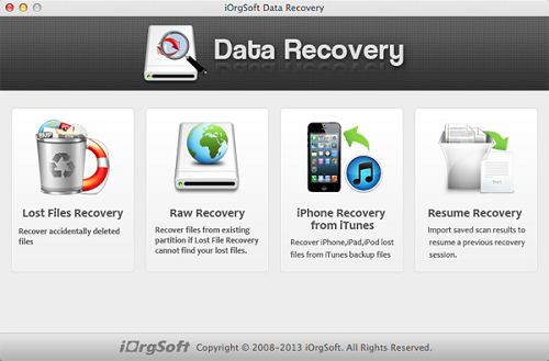 iOrgsoft Data Recovery is an outstanding data recovery software that can help users recover lost/deleted files easily and saftly.