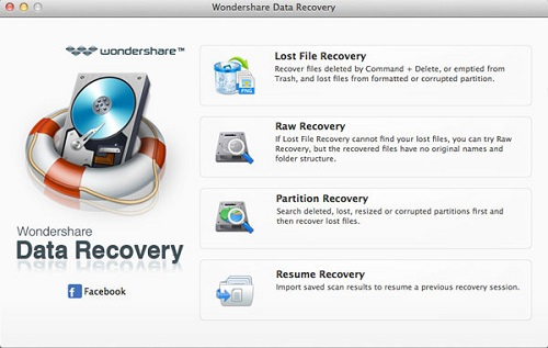 Wondershare Data Recovery for Mac is a professional data recovery solutions for computer, hard drive, memory card, flash drive, mobile phones, digital camera, camcorder etc.